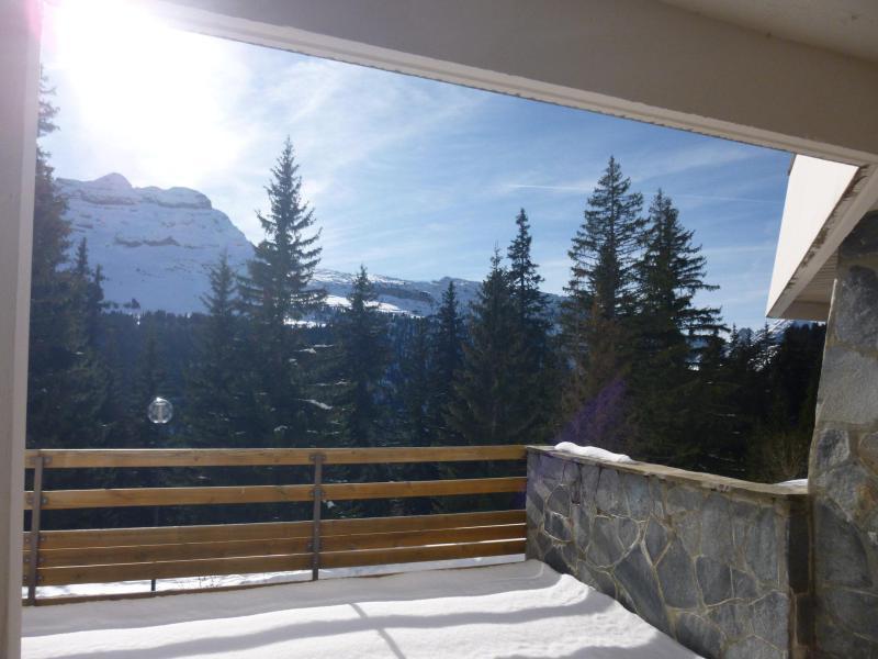 Аренда на лыжном курорте Квартира студия кабина для 4 чел. (05) - Résidence Arche - Flaine - Терраса