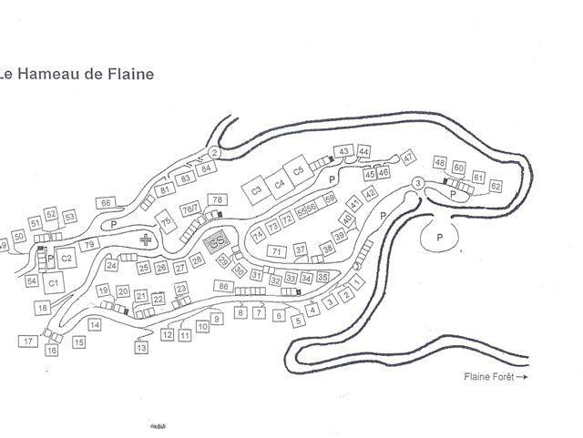 Soggiorno sugli sci Résidence Châteaux de Crans - Flaine - Mappa