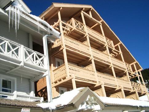 Soggiorno sugli sci Résidence Châteaux de Crans - Flaine - Esteriore inverno