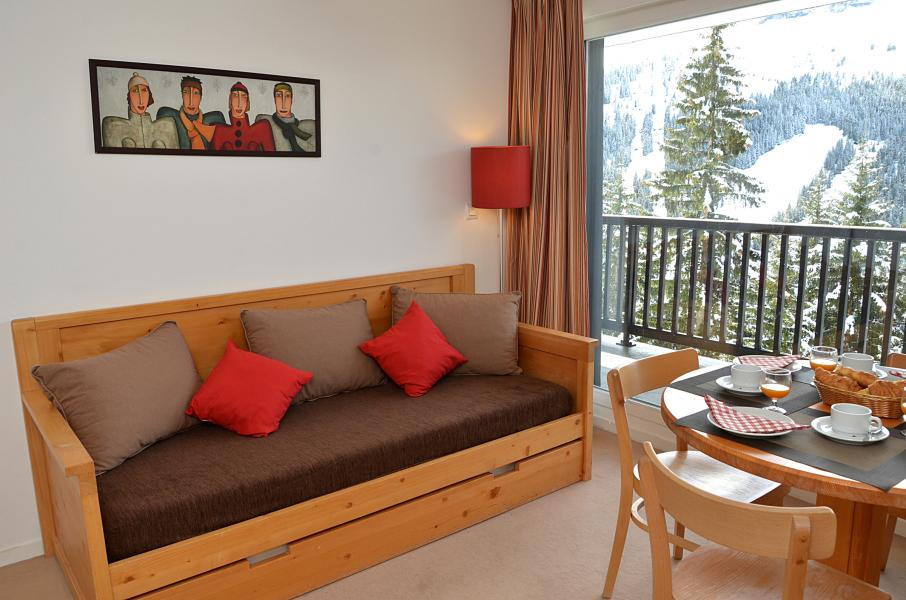 Location au ski Residence Les Pleiades - Flaine - Banquette-lit