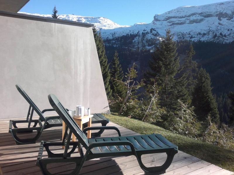 Аренда на лыжном курорте Résidence les Pléiades - Flaine - Терраса