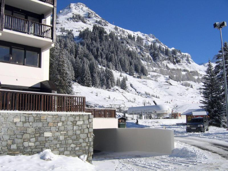 Skiverleih Résidence les Terrasses de Veret - Flaine - Draußen im Winter