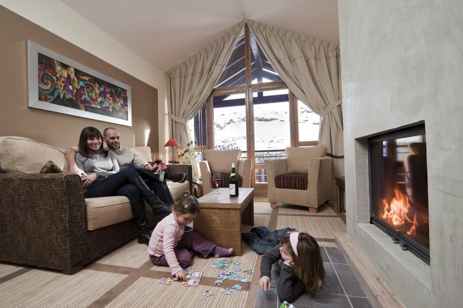 Location au ski Résidence P&V Premium les Terrasses d'Eos - Flaine - Cheminée