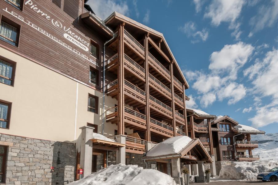 Urlaub in den Bergen Résidence P&V Premium les Terrasses d'Helios - Flaine - Draußen im Winter