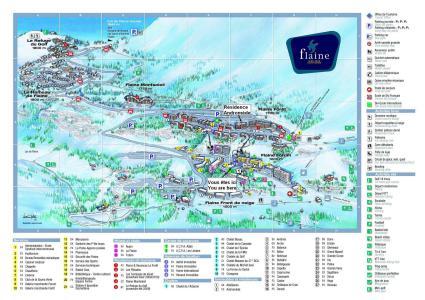 Soggiorno sugli sci La Résidence Andromède - Flaine - Mappa