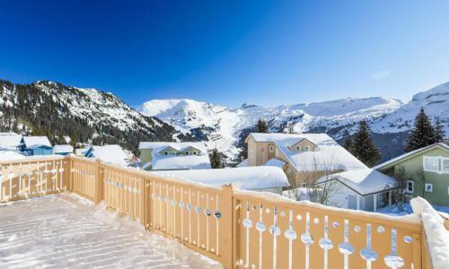 Wakacje w górach Domek górski 7 pokojowy 12 osób (180m²) - Les Chalets de Flaine Hameau - Maeva Home - Flaine - Zima na zewnątrz