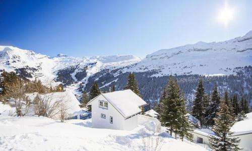Wakacje w górach Domek górski 3 pokojowy 8 osób (Confort 70m²) - Les Chalets de Flaine Hameau - Maeva Home - Flaine - Zima na zewnątrz
