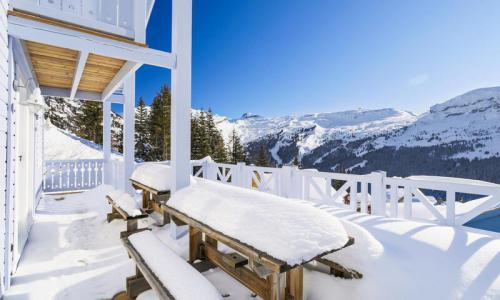 Wakacje w górach Domek górski 7 pokojowy 14 osób (Prestige 180m²) - Les Chalets de Flaine Hameau - Maeva Home - Flaine - Zima na zewnątrz