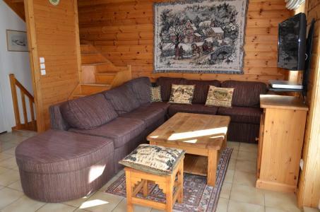 Location au ski Chalet 5 pièces mezzanine 8 personnes (08) - Les Chalets Du Hameau - Flaine - Séjour