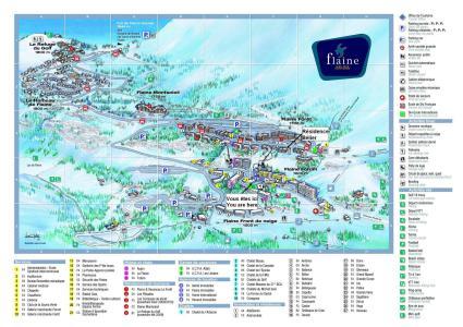 Location au ski Résidence Bélier - Flaine - Plan