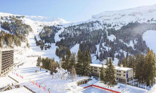 Wakacje w górach Apartament 2 pokojowy 6 osób (Sélection 50m²-7) - Résidence Cassiopée - Maeva Home - Flaine - Zima na zewnątrz