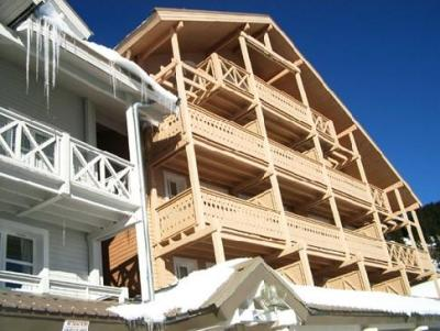 Location au ski Studio 4 personnes (C5) - Residence Chateaux De Crans - Flaine - Extérieur hiver