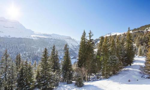 Wakacje w górach Studio 4 osoby (Sélection 28m²-4) - Résidence Iris - Maeva Home - Flaine - Zima na zewnątrz