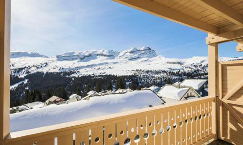 Location au ski Studio 4 personnes (Confort 27m²-2) - Résidence les Châteaux de Crans - Maeva Home - Flaine - Extérieur hiver