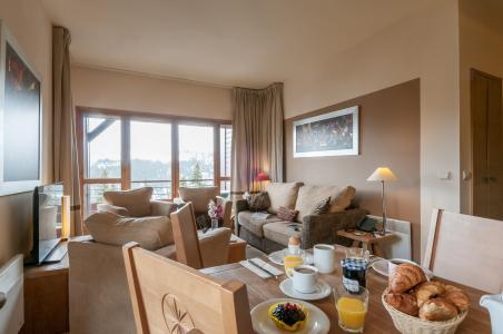 Location au ski Résidence P&V Premium les Terrasses d'Eos - Flaine - Coin repas