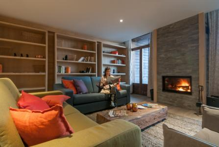 Location au ski Residence P&v Premium Les Terrasses D'helios - Flaine - Cheminée