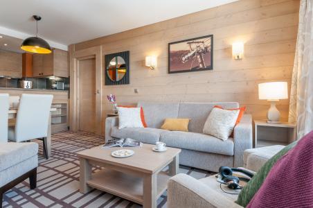 Location au ski Résidence P&V Premium les Terrasses d'Helios - Flaine - Coin séjour