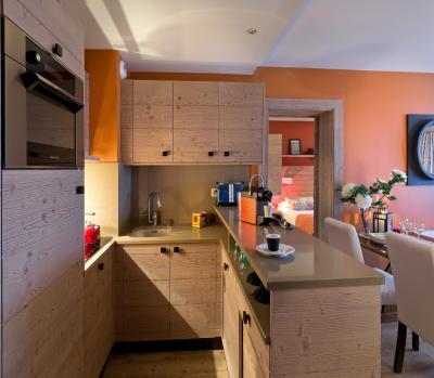Location au ski Residence P&v Premium Les Terrasses D'helios - Flaine - Cuisine
