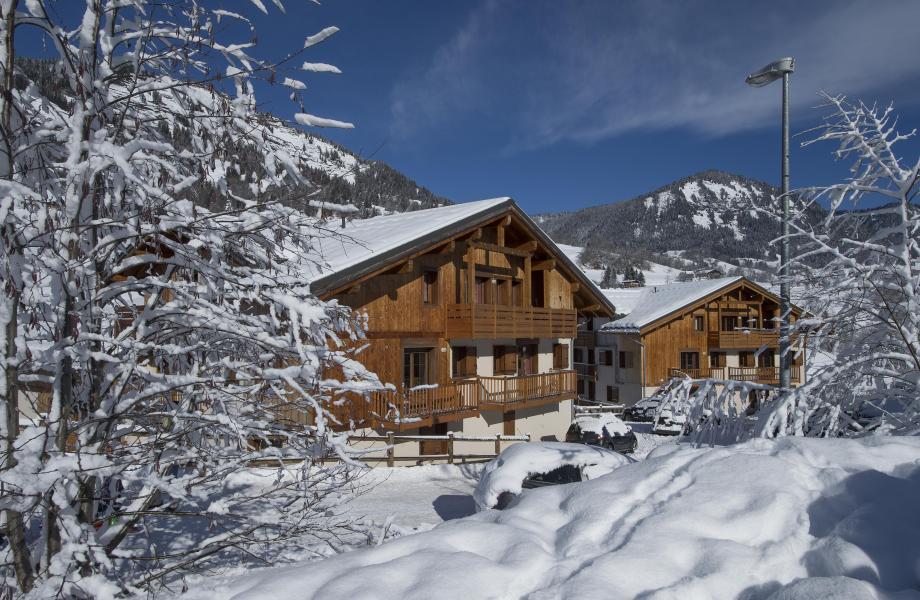 Location au ski Résidence les Chalets des Evettes - Flumet - Extérieur hiver