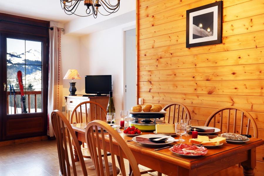 Location au ski Résidence les Chalets des Evettes - Flumet - Coin repas