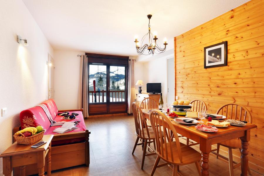 Аренда на лыжном курорте Résidence les Chalets des Evettes - Flumet - Диван кровать