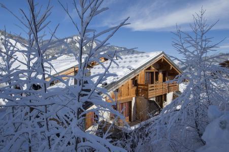 Location au ski Residence Les Chalets Des Evettes - Flumet - Extérieur hiver