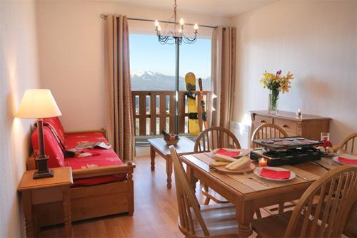 Location au ski Appartement 3 pièces 6 personnes - Residence Les Chalets Du Belvedere - Font Romeu - Séjour