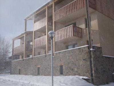 Location au ski Residence Les Chalets Du Belvedere - Font Romeu - Extérieur hiver