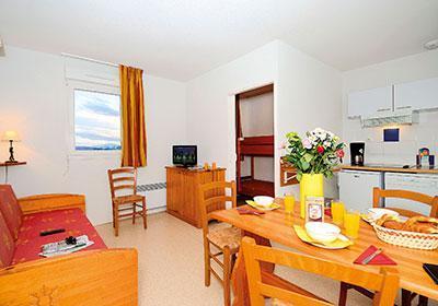Location 6 personnes Appartement supérieur 2 pièces cabine 5-6 personnes (supérieur) - Residence Mille Soleils