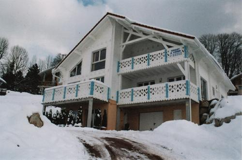 Rent in ski resort 2 room apartment 4 people - Chalets Domaine les Adrets - Gérardmer - Winter outside
