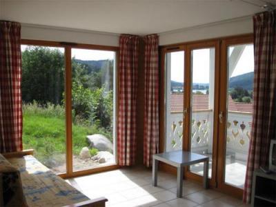 Location au ski Appartement 3 pièces 6 personnes - Chalets Domaine Les Adrets - Gerardmer - Porte-fenêtre donnant sur balcon