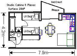 Location au ski Studio 6 personnes (ISA58G) - Residence Isards - Gourette - Plan