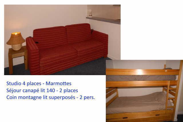 Location au ski Studio 4 personnes (F1) - Residence Les Marmottes - Gourette