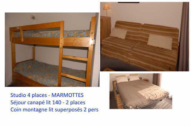 Location au ski Studio 4 personnes (C1) - Residence Les Marmottes - Gourette
