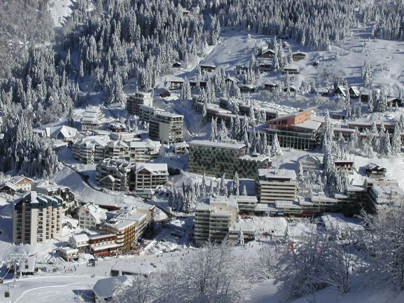 Location au ski Studio 5 personnes (291) - Residence Les Marmottes - Gourette - Extérieur hiver