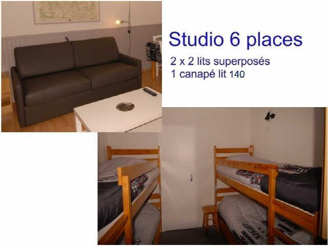 Location au ski Studio 6 personnes (ISA72) - Résidence Isards - Gourette - Coin nuit