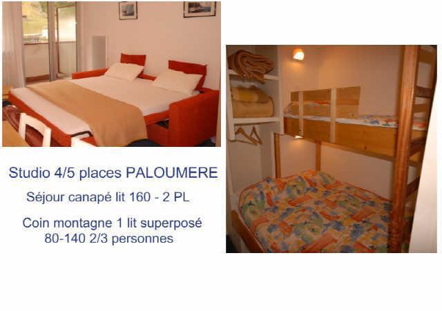 Location au ski Studio 4 personnes (755) - Residence La Paloumere - Gourette - Couchage