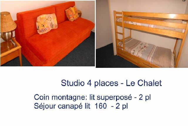 Rent in ski resort Studio 4 people (11) - Résidence le Chalet - Gourette