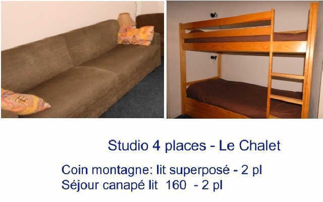 Location au ski Studio 4 personnes (8) - Residence Le Chalet - Gourette