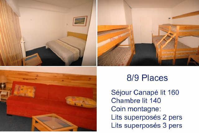 Rent in ski resort 2 room apartment 9 people (5) - Résidence le Chalet - Gourette