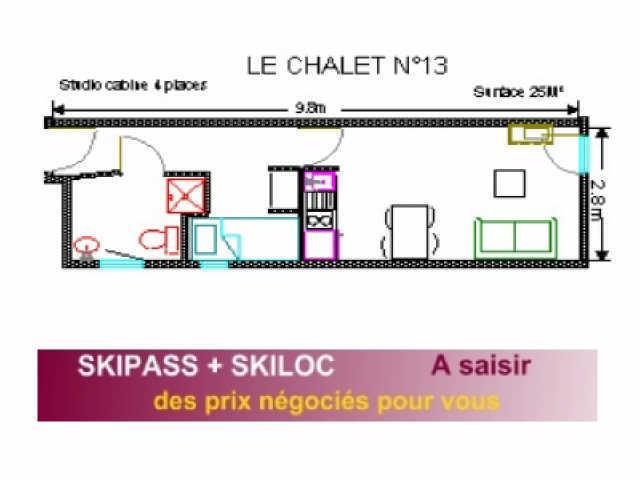 Soggiorno sugli sci Studio per 4 persone (13) - Résidence le Chalet - Gourette
