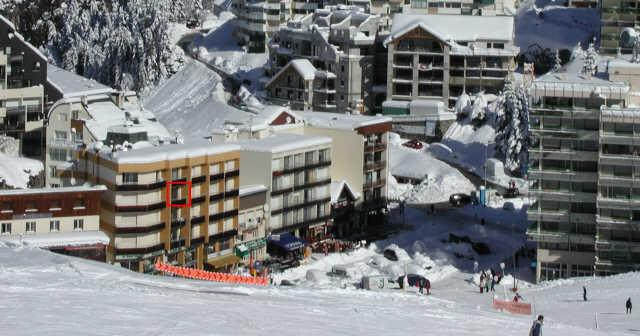 Rent in ski resort Studio 4 people (D3) - Résidence les Marmottes - Gourette - Winter outside