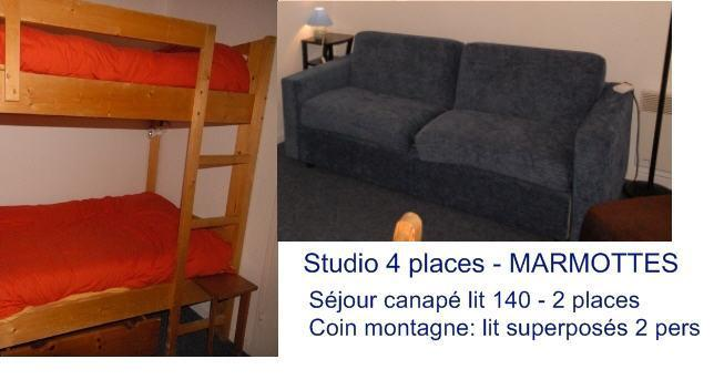 Rent in ski resort Studio 4 people (D4) - Résidence les Marmottes - Gourette