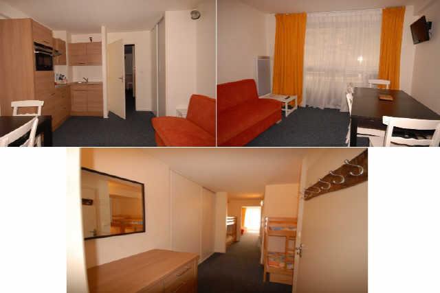 Location au ski Studio cabine 8 personnes (MAR8) - Résidence les Marmottes - Gourette - Appartement