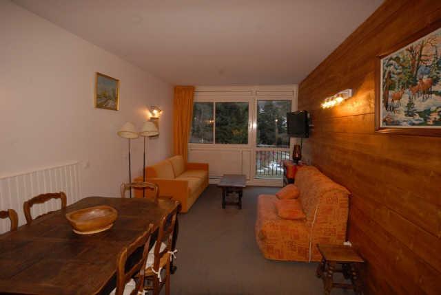 Location au ski Appartement 3 pièces 6 personnes (NS445) - Résidence Neige et Soleil - Gourette - Séjour