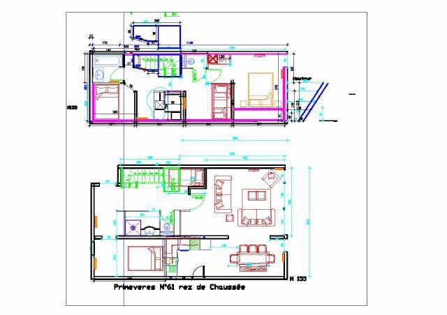 Soggiorno sugli sci Appartamento su due piani 5 stanze per 10 persone (PRI61) - Résidence Primevères - Gourette - Mappa