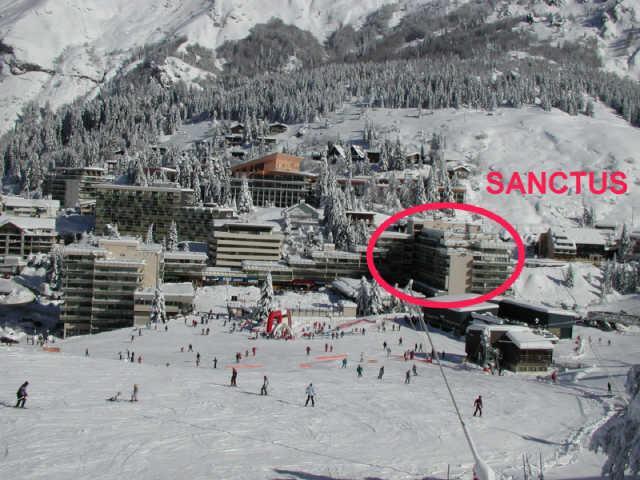 Rent in ski resort Logement 1 pièces 6 personnes (SAN47) - Résidence Sanctus - Gourette