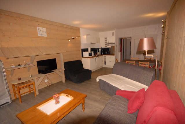 Location au ski Studio 4 personnes (SAR123) - Residence Sarriere - Gourette - Coin repas