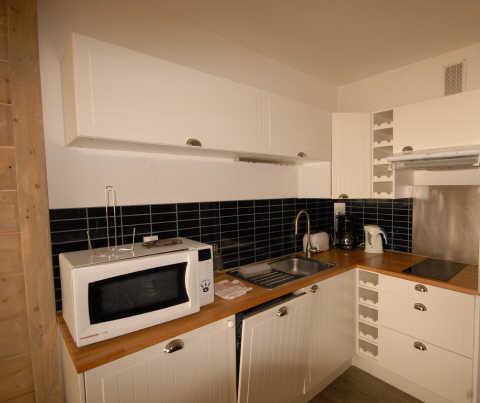 Location au ski Studio 4 personnes (SAR123) - Residence Sarriere - Gourette - Kitchenette