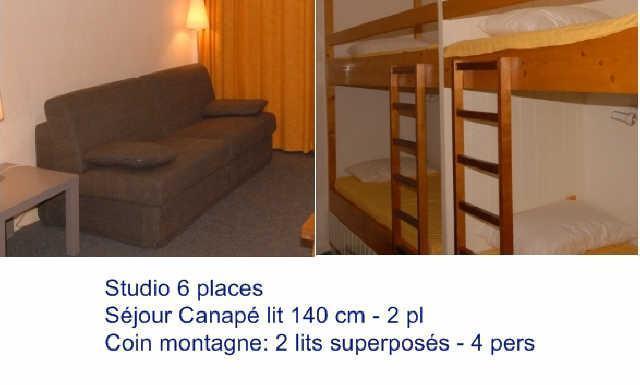 Location au ski Studio 6 personnes (SAR205) - Residence Sarriere - Gourette - Couchage